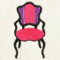 ダイヤ柄アンティーク椅子(大小の2個セット)