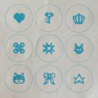 ワンコイン・デザインPack21(くるみボタンB-seria25�用 9種類)