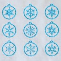 ワンコイン・デザインPack24(雪の結晶オーナメント9種類)