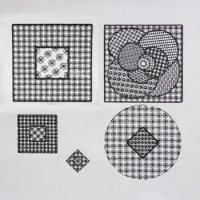 ワンコイン・デザインPack63(ブラックワークA  〈Black work〉 5種類)