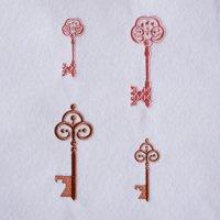 ワンコイン・デザインPack105(アンティーク調の鍵  4種類)刺繍データ