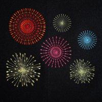 ワンコイン・デザインPack107(花火(fireworks) 6種類)刺繍データ