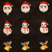 ワンコイン・デザインPack120(クリスマスC(チャーム&ワンポイント)9種類)刺繍データ
