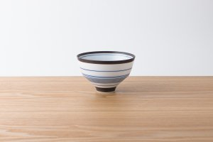 ARITA PORCELAIN LAB | 飯碗 錆中千段(藍)
