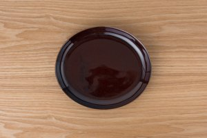 OVAL | 楕円皿(中) アメ釉