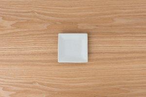 古白磁   正角小皿