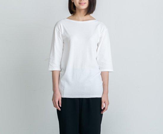 BASIC T BOAT-NECK 七分袖