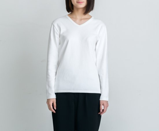 HEAVY WEIGHT V-NECK L/S