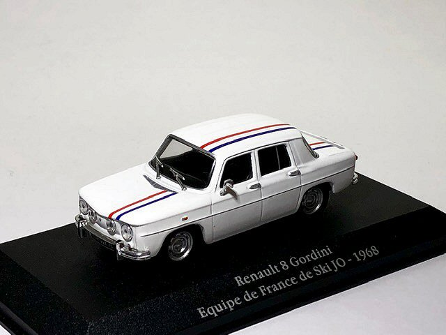 Renault R8 Gordini Equipe de France de Ski Jo 1968 1:43 Atlas Modell