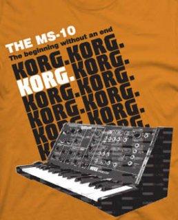 KORG MS-10 T-シャツ