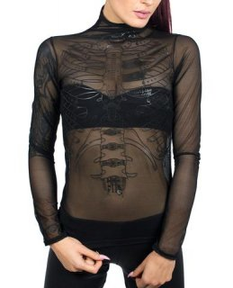 CYBERDOG : LAYER MESH L/S TOP RIB CAGE