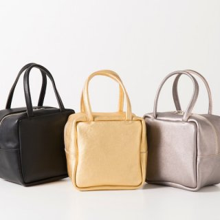 M062 MORMYRUS LEATHER CUBE TOTE