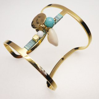 PAS SI SAGES <br> BAIL TURQUOISE BANGLE/<br>パスシサージ<br>バングル ターコイズ