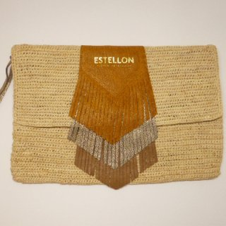 ESTELLON<br>COOKIE PUEBLO AMBER/<br>エステロン<br>クラッチバッグ アンバー