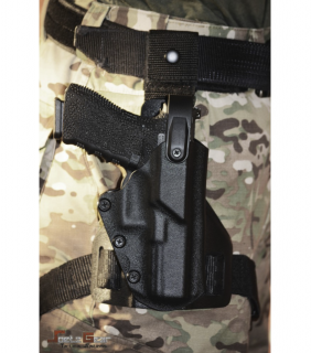 DROP-LEG HOLSTER BLACK Glock21 RH Level2 |Spetz Gear マルイG17対応サイズ<img class='new_mark_img2' src='https://img.shop-pro.jp/img/new/icons24.gif' style='border:none;display:inline;margin:0px;padding:0px;width:auto;' />