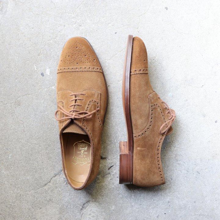 "<img class='new_mark_img1' src='https://img.shop-pro.jp/img/new/icons34.gif' style='border:none;display:inline;margin:0px;padding:0px;width:auto;' />""未使用品"" Foster&son(フォスターアンドサン)Semi Brogue Shoes(セミブローグ シューズ)Crockett&Jones製 UK8 DEAD STOCK 箱/シューキーパー付"