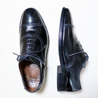 "<img class='new_mark_img1' src='https://img.shop-pro.jp/img/new/icons34.gif' style='border:none;display:inline;margin:0px;padding:0px;width:auto;' />""中古品/希少品"" Ducker&Son(ダッカーアンドサン)Semi Brogue Shoes(セミブローグ シューズ)UK8 EX ブラック GRENSON製"