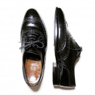 """""""中古品"""" Crockett&Jones(クロケット&ジョーンズ)× SHIPS別注 Full Brogues Shoes(フルブローグ シューズ)UK7.5 E ブラック LONDON"""