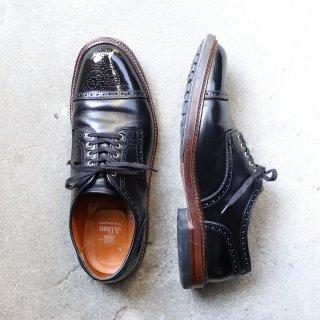 """""""美品/希少品"""" Alden(オールデン)× Alden NY別注 Semi Brogue Shoes(セミブローグ シューズ)US10.5 D バリーラスト D6510C クロムエクセル 箱/袋付"""