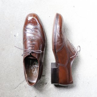 """<img class='new_mark_img1' src='https://img.shop-pro.jp/img/new/icons1.gif' style='border:none;display:inline;margin:0px;padding:0px;width:auto;' />""""中古品"""" FLORSHEIM(フローシャイム)Full Brogues Shoes(フルブローグシューズ)Imperial Quality US10 E ブラウン 70s"""