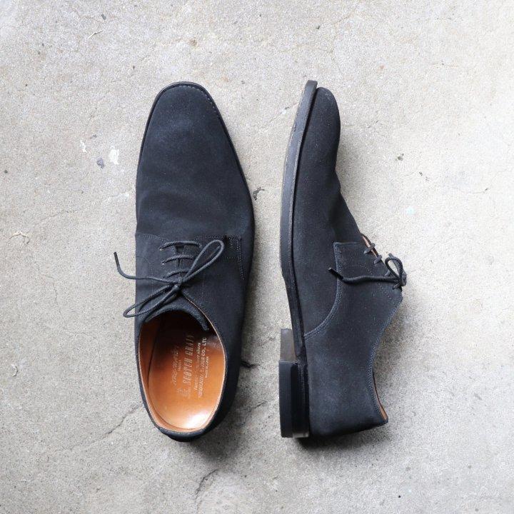 "<img class='new_mark_img1' src='https://img.shop-pro.jp/img/new/icons1.gif' style='border:none;display:inline;margin:0px;padding:0px;width:auto;' />""美品"" SCOTCH GRAIN(スコッチグレイン)Plane Toe Shoes(プレーントゥ シューズ)24.5cm E ブラック スエード 5384"