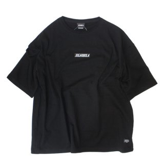 JOGARBOLA EMBROIDERY LOGO ビッグシルエットTEE - BLK