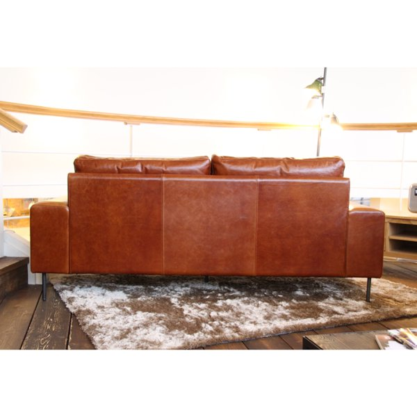 VIDER sofa camel oil leatherの画像