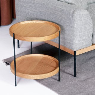 HUMLA end table/ light oakサイドテーブルの画像