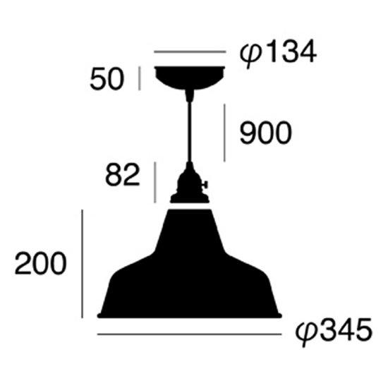 Railroad-pendant 電球なしの画像