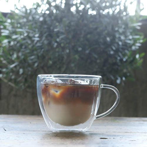 DOUBLE WALL GLASS CUP CAPPUCCINOの画像