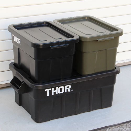 """Thor Large Totes With Lid """"22L / Gray""""の画像"""