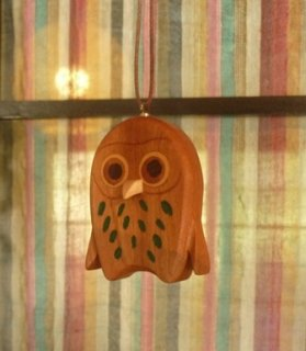 フクロウのペンダント