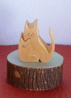 寄り添いネコ くっつきネコ 〜みかんの木のクラフトシリーズ〜