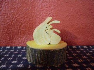 くっつきうさぎ みかんの木のクラフトシリーズ