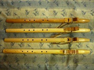 木製インディンフルート Wood Indian flute  4樹種