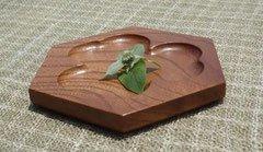 木の菓子皿 〜ケヤキの五六八角皿〜