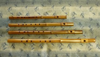 オリジナル横笛 真竹製  Original Flute G管( 三本調子)