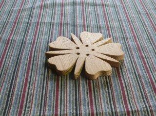 タモのポット敷き Wood Pot Pad 〜ヘビイチゴの花デザイン〜