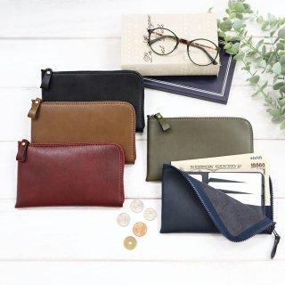 薄型コンパクト長財布[お札を折らずにピッタリ収納・カード6枚収納・小銭も見やすい]選べる5色展開