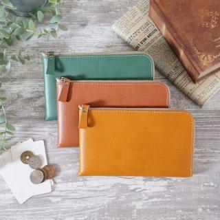 薄型コンパクト長財布[お札ピッタリサイズ]新色3色 ヴィーガンレザー(人工皮革)製