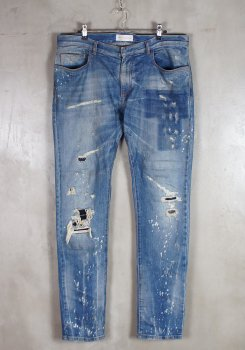 FAITH CONNEXION<br>DESTOROY DENIM SLIM PANTS<br>[中古A]