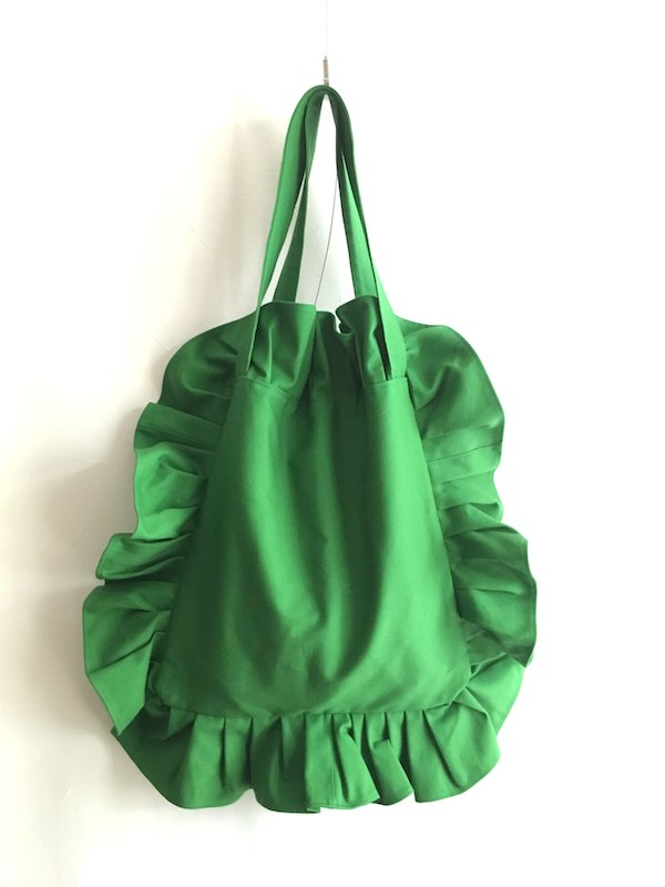 Canvas Tote Bag  / 帆布 フリルバック  RightGreen Small
