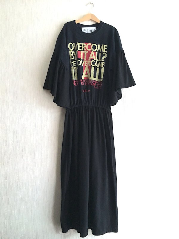Remake  Blousing Dress / リメイク ブラウジングワンピース (CROSS)
