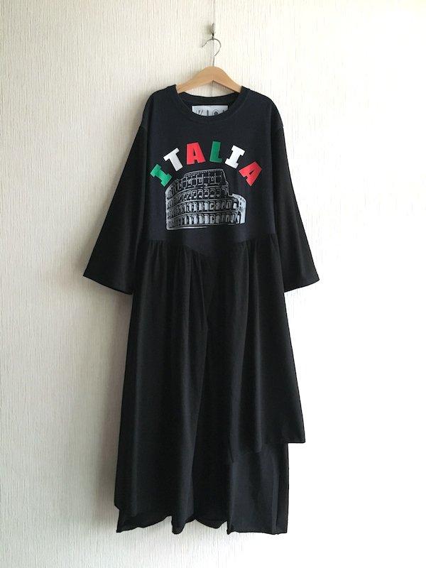 Remake Long  Dress / リメイク ロングワンピース 長袖 (ITALIA)