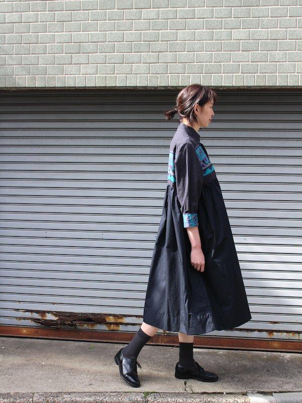 Remake Shirts Dress / リメイクシャツワンピース (ブラック)