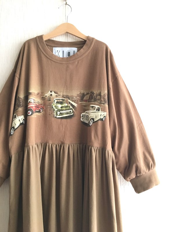 Remake Loose Dress/ リメイクルーズワンピース ( Car )