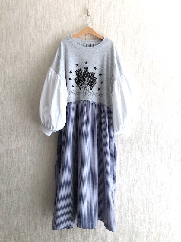 Remake Loose Dress/ リメイクルーズワンピース ( Stripe/Star )