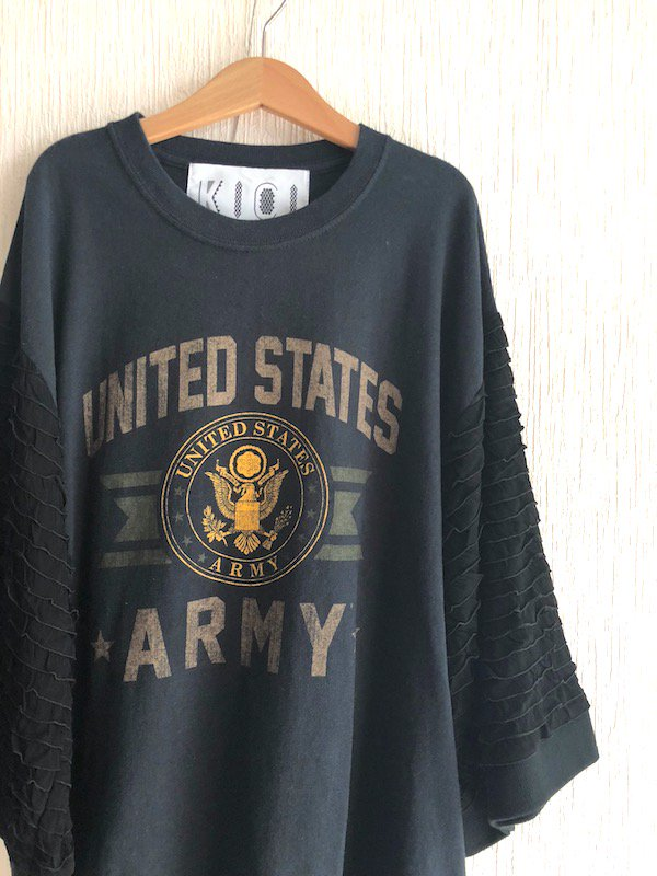Remake  Ruffle Sleeve Top / リメイク ラッフルスリーブ トップ (ARMY)