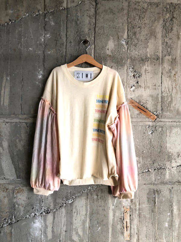 Remake  Balloon tops  / リメイク バルーン トップス  (tie-dye)