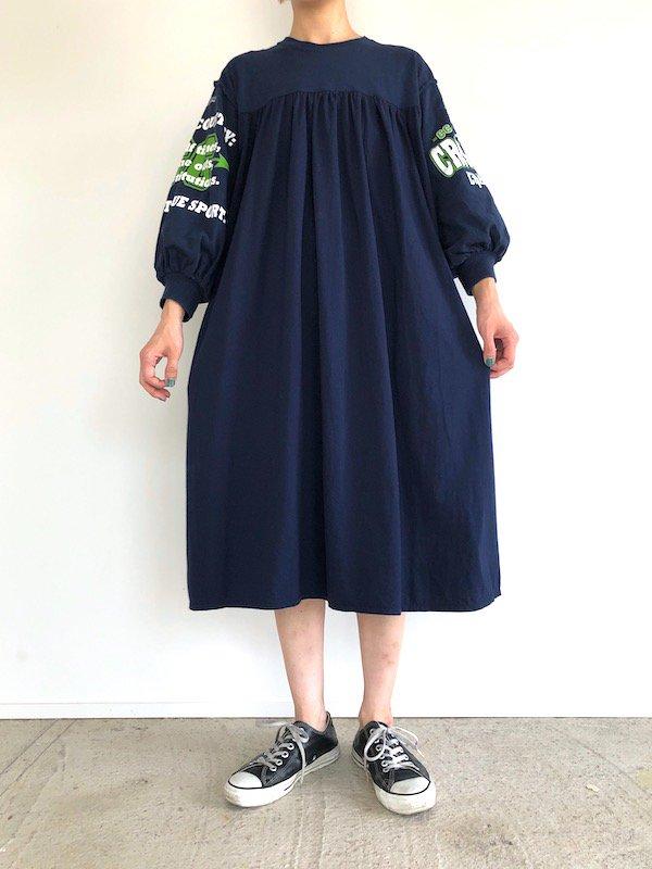 Remake Print Sleeve  Dress  / リメイク プリントスリーブワンピース(NV-2)